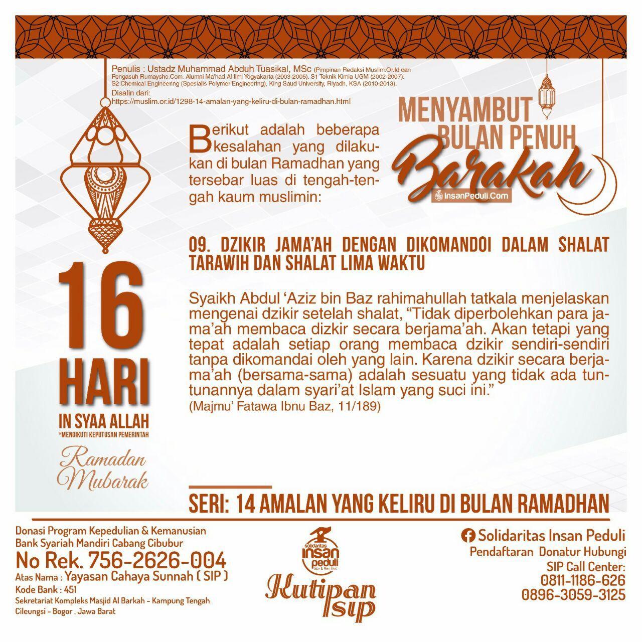 Kutipan SIP#100-Ramadhan 16
