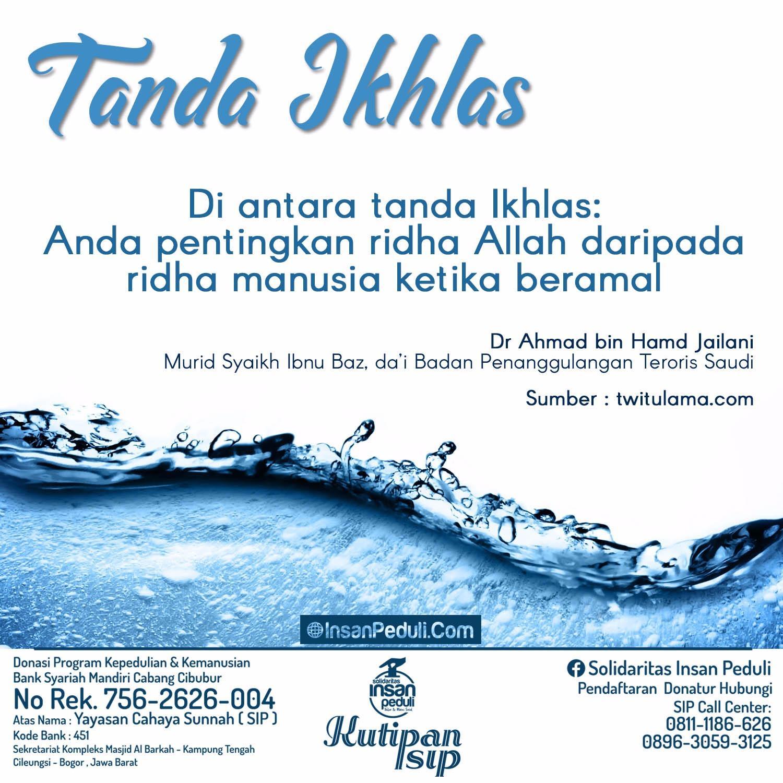 Tanda Ikhlas
